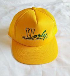 New-TRUCKER-HAT-Adjustable-Mesh-WORLY-PLUMBING-SUPPLY-INC-Snapback-Baseball-Cap