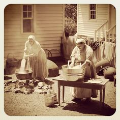 Laundry day at the AHC's 1860s Smith Family Farm by Atlanta History Center, via…