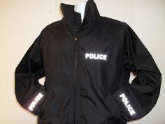 3M Reflective Police or Sheriff Lightweight Jacket. Black or Navy Blue