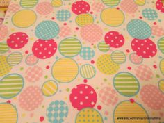 Flannel Fabric  Dotty Circles   1 yard  100% Cotton by SnappyBaby