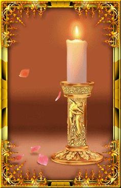 Imagen Vela y oro de Velas de Navidad