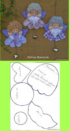 Use your imagination with diagram and make an ornament; paper, felt, cloth; make tinfoil wings or lace....                                                                                                                                                     More