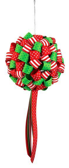 Nicole™ Crafts Ribbon Ornament #ornaments #craft #christmas