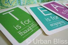 teacher flashcards - teacher appreciation printworthy-printables-and-fun-fonts