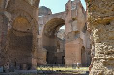 The Baths of Caracalla-view from the Frigidarium (a room with cold water pool).