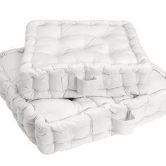 Coussin de sol SCENARIO - La Redoute - Toile et garnissage pur coton bien résistant. 2 tailles  : 38 x 38 et 50 x 50 cm. Epaisseur 10 cm. Qualité VALEUR SÛRE. -