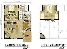 small cabin floor plan designs