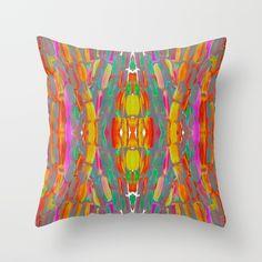 Dream Shade Sugarcane Pattern Throw Pillow by anoellejay | Society6 | Home decor | Tropical Caribbean African Art by @anoellejay @society6