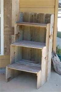pallet wood I do believe...be great to then put boxes or baskets on filled with goodies. Carolyn