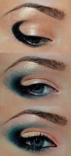 When it comes to eye make-up you need to think and then apply because eyes talk louder than words. The type of make-up that you apply on your eyes can talk loud about the type of person you really are. Gold Eye Makeup, Eye Makeup Art, Fairy Makeup, Mermaid Makeup, Love Makeup, Makeup Inspo, Makeup Inspiration, Makeup Tips, Makeup Ideas