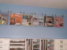 scrapbook room, like the hanging pages