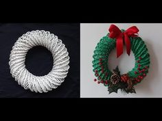 Diy.Corona Navideña Reciclando Mirna y sus manus Diy. How to make a Christmas wreath Recycling - YouTube