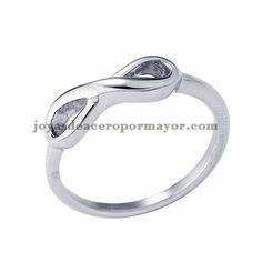 anillo de infinito en acero plata inoxidable para mujer -SSRGG1081748