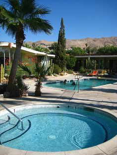 Hope Springs, Desert Hot Springs by etselecsg, via Flickr. The 3 pools are hot spring fed and vary from very hot to comfortably hot to tepid.  It's a wonderful place... only 15 minutes from Palm Springs.