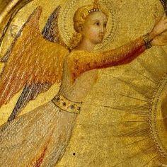 Il Sassetta (Stefano di Giovanni) - Madonna con Bambino e Angeli, dettaglio - ca. 1445-1450 - tempera su tavola, fondo oro - Metropolitan Museum of Art, New York