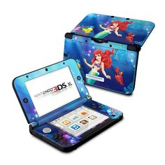 Little Mermaid Design Protective Decal Skin Sticker for Nintendo XL Gloss) Mario 3ds, Ds Xl, Nintendo 3ds Games, Christmas Presents For Kids, Custom Consoles, Disney Tsum Tsum, Video Game Console, The Little Mermaid, Ipod