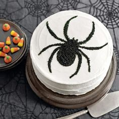Along Came a Spider Cake Recipe - Halloween Cake Recipe - Country Living