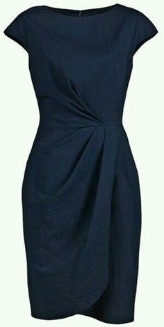 Lela Rose Blue Pebble Cap Sheath Dress - Cocktail dress new Trendy Dresses, Elegant Dresses, Beautiful Dresses, Elegant Clothing, Ladies Dresses, Dress Outfits, Fashion Dresses, Cute Outfits, Dress Shoes