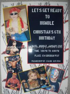 wwe birthday invitation