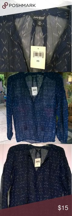Last chance NEW !! Lucky Brand shirt New with tags !!:) says xs but fits small. Lucky Brand Tops