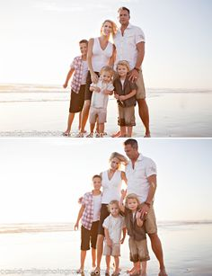 REALLY WONT TO GET OUR PICTURES DONE ON THE BEACH #family #beach #photography