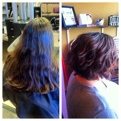 Dramatic cut makeover by Master Stylist Caitlin at Avantgarde Salon and Spa in Grand Rapids, MI