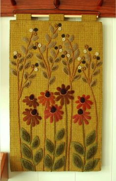 Wool applique PATTERN wall hanging penny by HorseAndBuggyCountry