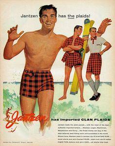 dtxmcclain:  Jantzen has the plaids! 1955