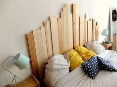 « Sur le blog: DIY de la tête de lit en bois (lien dans ma bio) #diy #wood #madecoamoi »