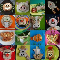 leuke lunchideetjes via funky lunch (o.a. daar ook een hello kitty boterham)  origineel geknipt van www.funkylunchbunch.com
