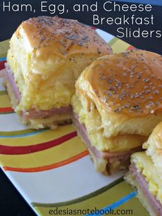 Edesia's Notebook: SRC: Ham, Egg, and Cheese Breakfast Sliders