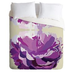 Gabi Jardin Duvet Cover | DENY Designs Home Accessories #pantone #coloroftheyear #radiantorchid