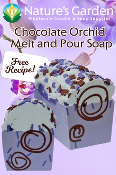 Free Chocolate Orchid Melt and Pour Soap Recipe by Natures Garden