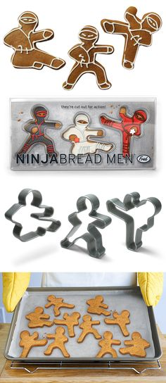 'Ninja Bread Men' cookie cutter set from Worldwide Fred