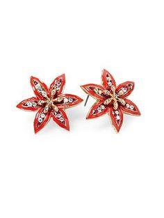 Betsey Johnson Flower Stud Earring - $23.99