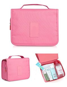 8c28977e03 CINEEN Travel Handbag Multifunctional Cosmetics Wash Waterproof Bag Pink --  Continue to the product at