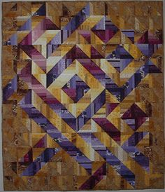 Marmalade Skies quilt 58 x 69 by Carole Dietrich, December 2009 - A quilt inspired by the book, Strips That Sizzle by Margaret J. Miller.