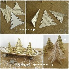 last minute christmas easy vintage paper trees, crafts, seasonal holiday decor Noel Christmas, Christmas Paper, Winter Christmas, All Things Christmas, Vintage Christmas, Christmas Ornaments, Christmas Packages, Paper Ornaments, Christmas Music