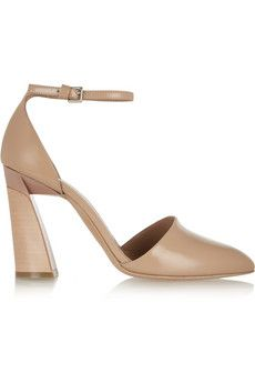 Marni Glossed-leather pumps | THE OUTNET
