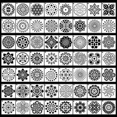 Dot Painting Tools, Rock Painting Supplies, Dot Art Painting, Mandala Painting, Stencil Painting, Mandala Drawing, Mandala Art, Tree Stencil, Pour Painting