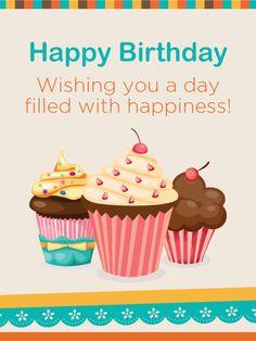 Colorful Birthday Cupcake Card