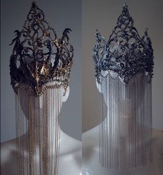 Jewelry Supplies - Gold vs Silver 💔 Crowns with Chain Veil . - Jewelry Supplies – Gold vs Silver 💔 Crown with chain veil … – Je - Wedding Veils, Gold Wedding, Wedding Bride, Trendy Wedding, Hair Wedding, Dress Wedding, Bridal Hair, Wedding Jewelry, Fantasy Costumes