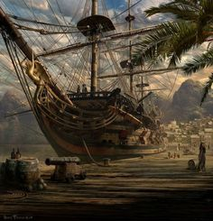 Port Royal, Jamaica by Sarel Theron. Home of the Buccaneers and Pirate, Henry Morgan.: