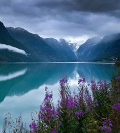 | ♕ | Lake Olden, Norway | by Kenneth Muir | via amagicalplacetobe #Norway ☮k☮ #Norge