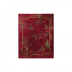 Room of the Day: Feminine with a Victorian Twist via @domainehome // Lawrence of La Brea Chinese Art Deco Rug