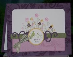 Silhouette sentiments ; Spellbinders Fancy tags ; Circle punches ; Thank you
