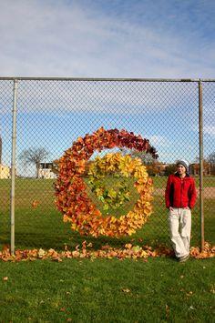 Not technically a burner, but beautifully creative. Fence Art, Outdoor School, Yarn Bombing, Collaborative Art, Autumn Art, Environmental Art, Nature Crafts, Recycled Art, Outdoor Art
