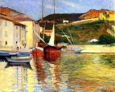 Charles Camoin - Red Tartan at Cassis,1901