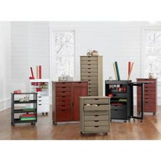 Home Decorators Collection Stanton 14-Drawer Black 56 in. H Storage Cart 0201110210 at The Home Depot - Mobile
