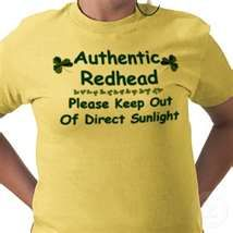 shirts and Gifts for Redheads and Gingers